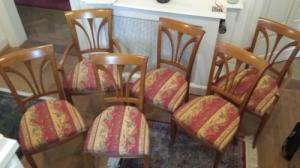 4 chaises et 2 fauteuils SELVA