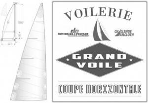 Grand Voile Sur-Mesure Coupe Horizontale
