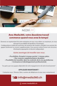 Avec Media360, votre travail commence quand vous voulez!