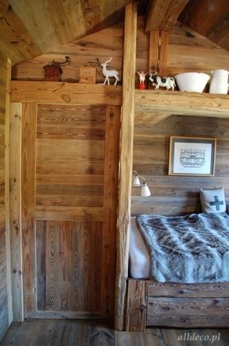 porte de communication en vieux bois