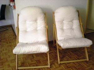 2 fauteuils relax en pin naturel