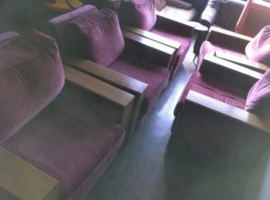 Cinque fauteuils rosée  de grande classe