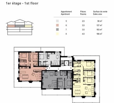 Magnifique appartement de 2.5 pièces