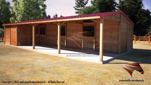 Außenboxen, Pferdeboxen, Pferdeställe, Weidehütte