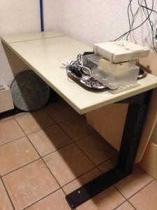 Table support bureau L120 x P50 x H72