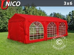 Partyzelt UNICO 3x6m, Rot