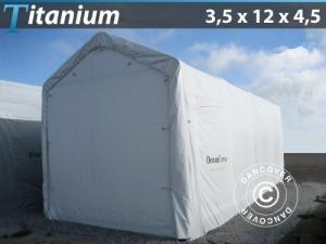 Lagerzelt Titanium 3,5x12x3,5x4,5m, Weiß