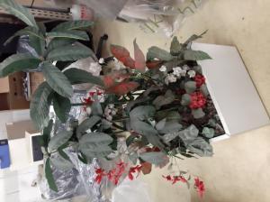jardinières plantes artificielles