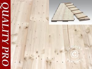 Partyzelt-Holzfußboden, 150x50x2,2cm, Kieferholz, 9