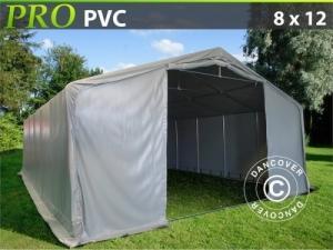 Lagerzelt PRO 8x12x4,4m PVC, Grau