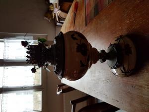 Pied de lampe ancienne