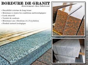 Bordure de granit