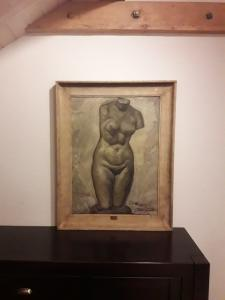 Nu de femme, huile sur toile