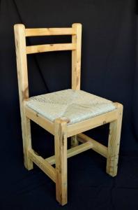 Lot de 21 chaises canées en pin