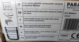 Parquet Eco Balance PARADOR dans emballage NEUF