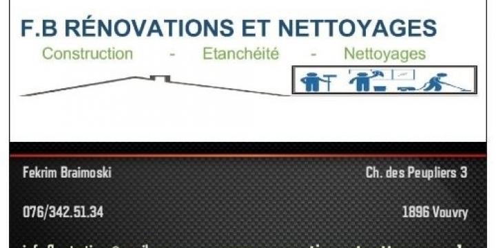 F.B Rénovations et Nettoyages
