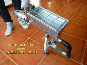 Joint sol  par le kit roulettes du combi