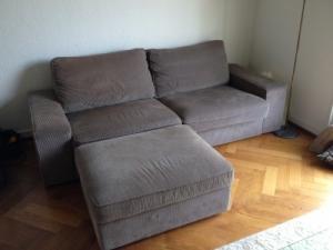 A donner: Canapé Ikea Kivik 3places gris