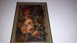 """Huile sur toile """" Bouquet de Roses"""""""