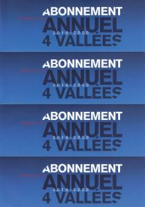2 ABOS annuelles les 4VALLEES