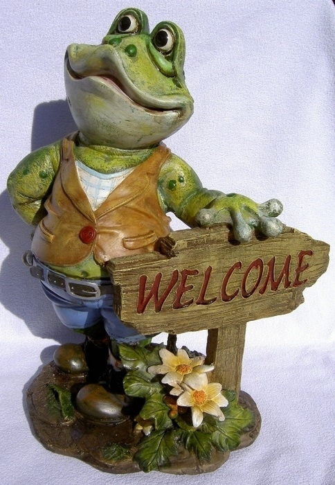 Grenouille de jardin welcome for Grenouille jardin deco