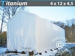 Lagerzelt Titanium 4x12x3,5x4,5m, Weiß