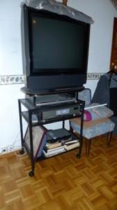 Meuble TV alu laqué noir