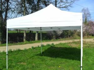 Chapiteau tonnelle tente parasol pliable 3x3m blanc neuf