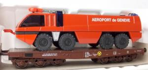 Märklin Ho wagon surbaissé ÖBB Aéroport de Genève
