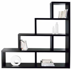 Bibliothèque / Étagère noire: 4 niveaux