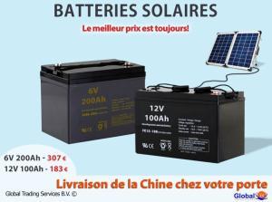 Les batteries solaires de Chine pour le meilleur prix