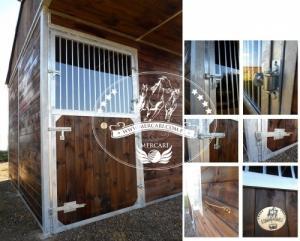 3 Pferdeaussenboxen Holz 3x9m 2840 EUR!