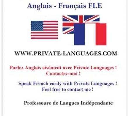 COURS PRIVES D'ANGLAIS OU DE FRANCAIS FLE POUR LES ETRANGERS