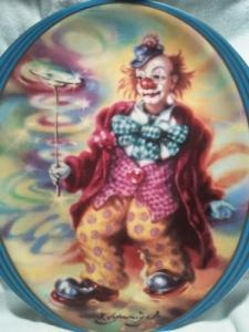 "Assiettes de collection ""Clowns"""