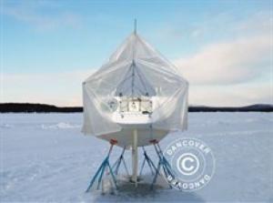 Bootsdeck-Rahmen mit Außenrand für Bootsplane, 9m/3