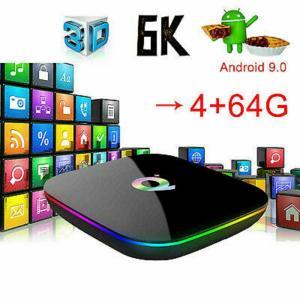 Nouveau 6K. Smart TV Box Q. Plus Android 9.0. (4G/ 64G) Neuve