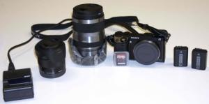 Pack Sony NEX-7 (2 lenses/ 2 batt. etc..