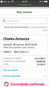 Concert aznavour à Lyon