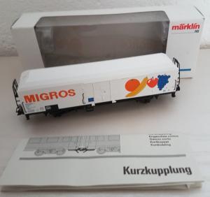 Märklin HO 4738 Hbis wagon frigorifique FS Migros CFF SBB