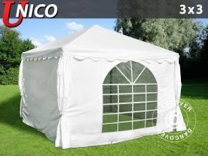Partyzelt Unico 3x3m, Weiß