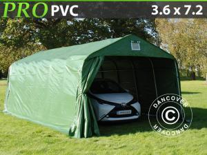Zeltgarage PRO 3,6x7,2x2,7m PVC, Grün