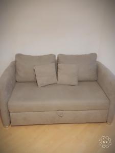 Canapé lit en microfibre