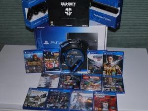 PS4 500GB Scellé+12 jeux+ 2 Mannettes Du