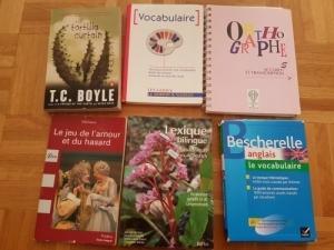 Plusieurs livres du gymnase