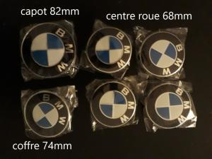BMW Kit logo capot roue coffre