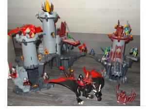 playmobil citadelles dragon vert rouge