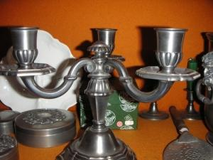 chandelier en etain neuf