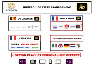 iptv France full hd intégral + playlist personnalisable