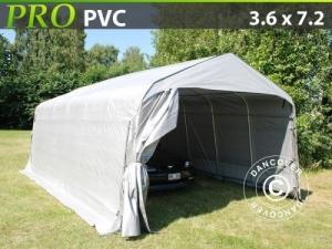 Zeltgarage PRO 3,6x7,2x2,68m PVC, Grau