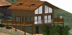 Grange transformée en habitation